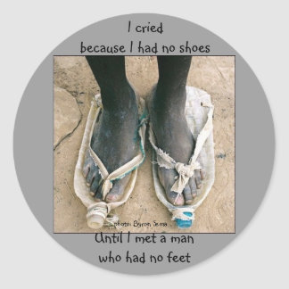 Shoes in Africa Classic Round Sticker
