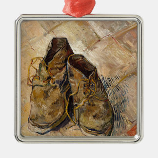 Shoes in Impressionist style Metal Ornament
