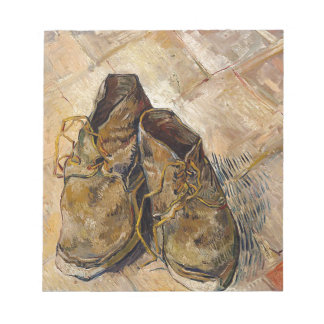 Shoes in Impressionist style Notepad
