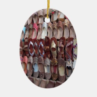 Shoes in India Ceramic Oval Ornament