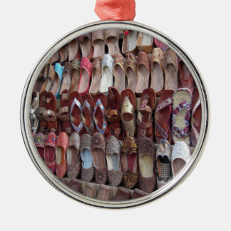 Shoes in India Silver-Colored Round Ornament
