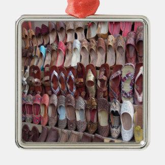 Shoes in India Silver-Colored Square Ornament