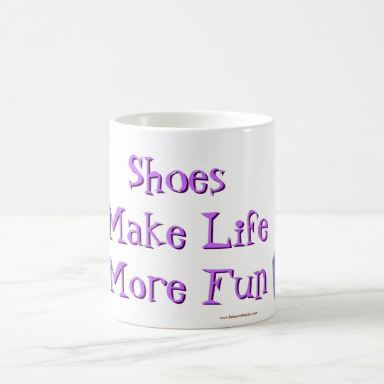 Shoes Make Life More Fun -purple Coffee Mug