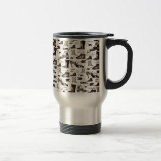 Shoes Ornate Pattern Decorative Sephia Cool Travel Mug