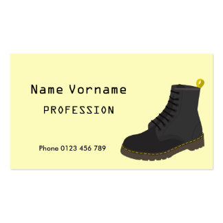 Shoes Pack Of Standard Business Cards