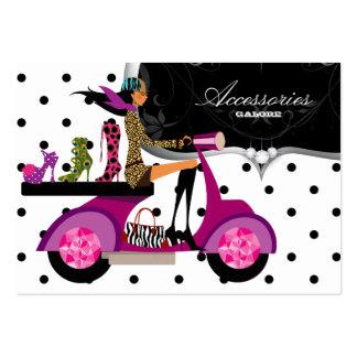 Shoes Scooter Girl Handbag Fashion Dots Large Business Card