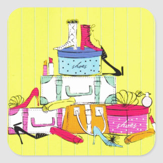 Shoes Shoes Shoes & Luggage Cute Colorful Design Stickers