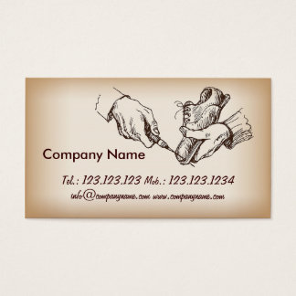 Shoes Shop Manager Shoemaker Repairman Business Card