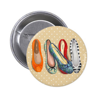 Shoes - tiny slippers 2 inch round button