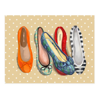 Shoes - tiny slippers postcard