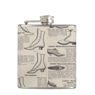 Shoes Vintage Victorian Advertising Hip Flask