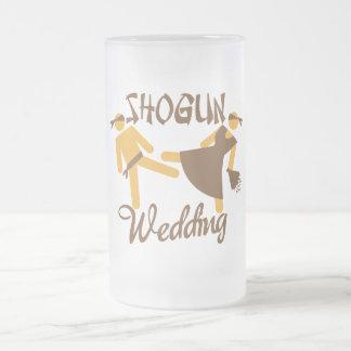 shogun wedding frosted glass beer mug
