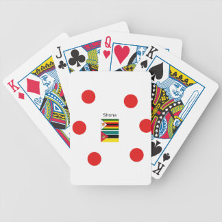 Shona Language And Zimbabwe and Mozambique Flags Bicycle Playing Cards