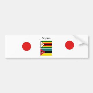 Shona Language And Zimbabwe and Mozambique Flags Bumper Sticker