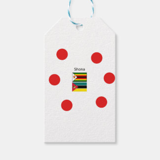Shona Language And Zimbabwe and Mozambique Flags Gift Tags