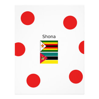 Shona Language And Zimbabwe and Mozambique Flags Letterhead