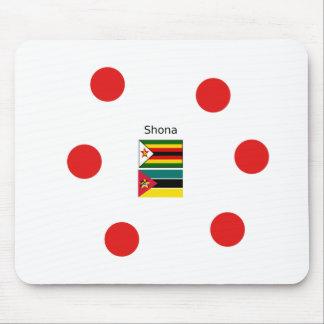 Shona Language And Zimbabwe and Mozambique Flags Mouse Pad