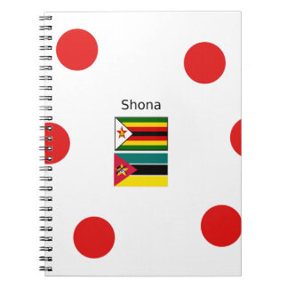 Shona Language And Zimbabwe and Mozambique Flags Notebook