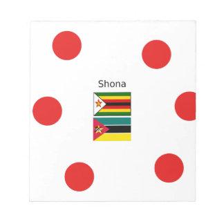 Shona Language And Zimbabwe and Mozambique Flags Notepad