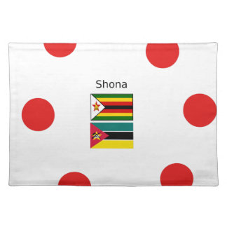 Shona Language And Zimbabwe and Mozambique Flags Placemat