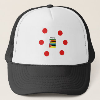 Shona Language And Zimbabwe and Mozambique Flags Trucker Hat