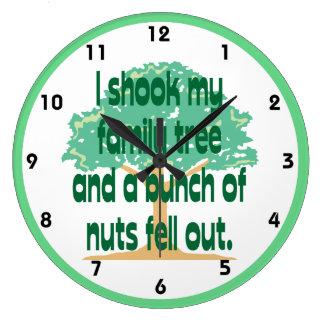 Shook My Family Tree Genealogy Large Clock