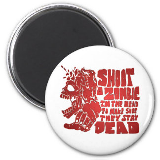 Shoot a Zombie in the Head Magnet