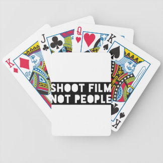 Shoot Film, Not People! Bicycle Playing Cards