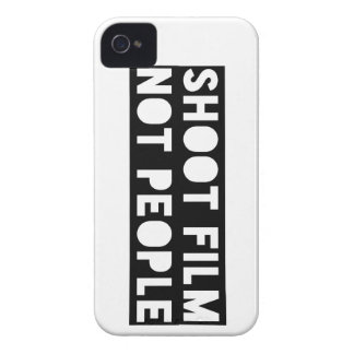 Shoot Film, Not People! Case-Mate iPhone 4 Cases
