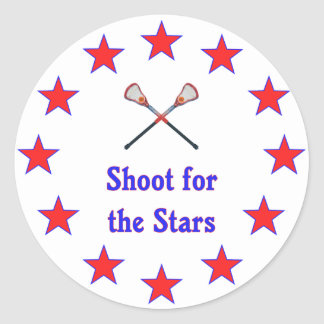Shoot for Stars Lacrosse Classic Round Sticker