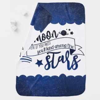 Shoot for the Moon Baby Blanket