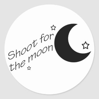 Shoot for the Moon Classic Round Sticker
