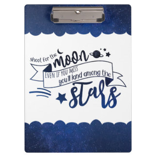 Shoot for the Moon Clipboard