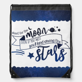 Shoot for the Moon Drawstring Bag