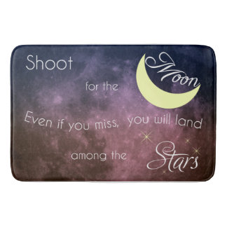 Shoot for the Moon Inspirational Bath Mat