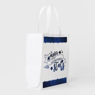 Shoot for the Moon Reusable Grocery Bag