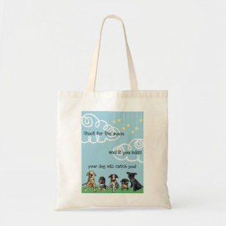 Shoot for the moon tote bag
