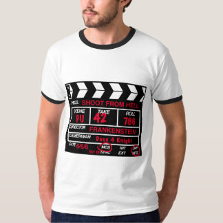 Shoot From Hell Camera Slate T-shirt