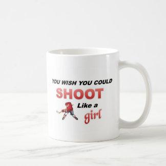 Shoot like a girl basic white mug