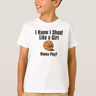 Shoot Like a Girl - Basketball T-Shirt