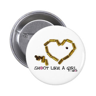 Shoot Like A Girl Buttons