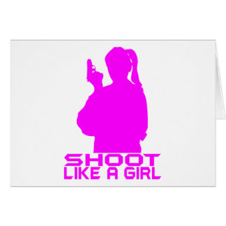 SHOOT LIKE A GIRL GREETING CARDS