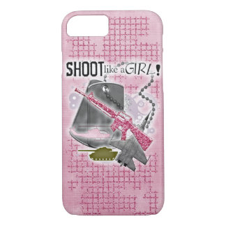 Shoot like a girl! Cover for military ladies!