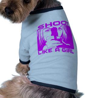 SHOOT LIKE A GIRL PET TEE
