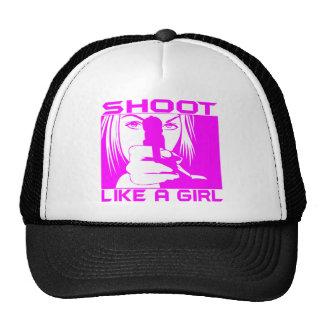 SHOOT LIKE A GIRL MESH HATS