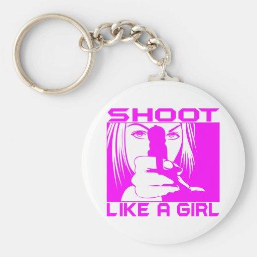 SHOOT LIKE A GIRL KEY CHAIN