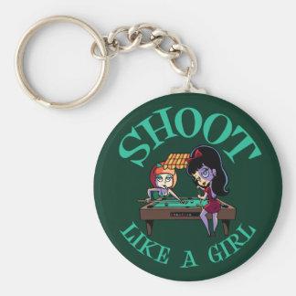 Shoot Like A Girl Keychain
