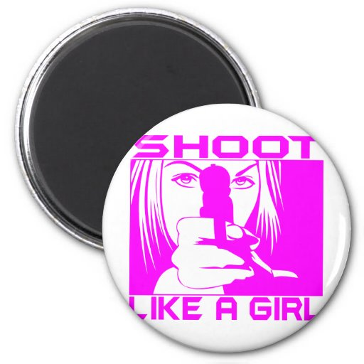 SHOOT LIKE A GIRL MAGNETS