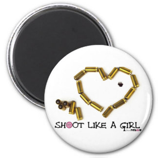 Shoot Like A Girl Fridge Magnets
