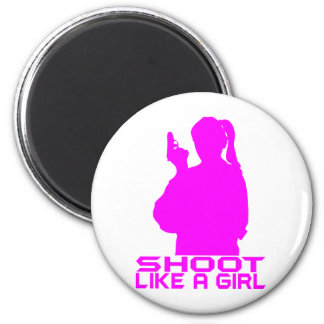 SHOOT LIKE A GIRL REFRIGERATOR MAGNETS